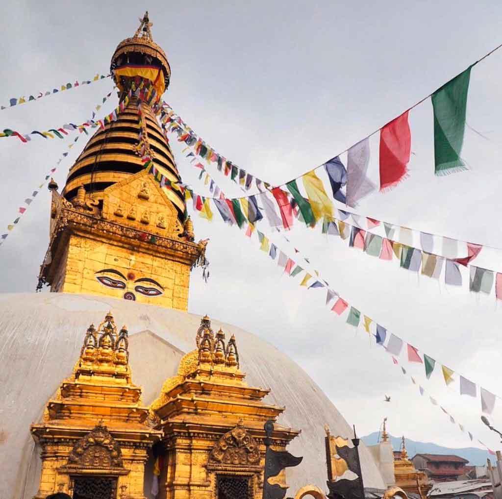 Nepal Stupas Asia. Viajes de Aventura y Viajes Alternativos en Grupo, Viajar Solo, Viaje Mochilero - 3000KM
