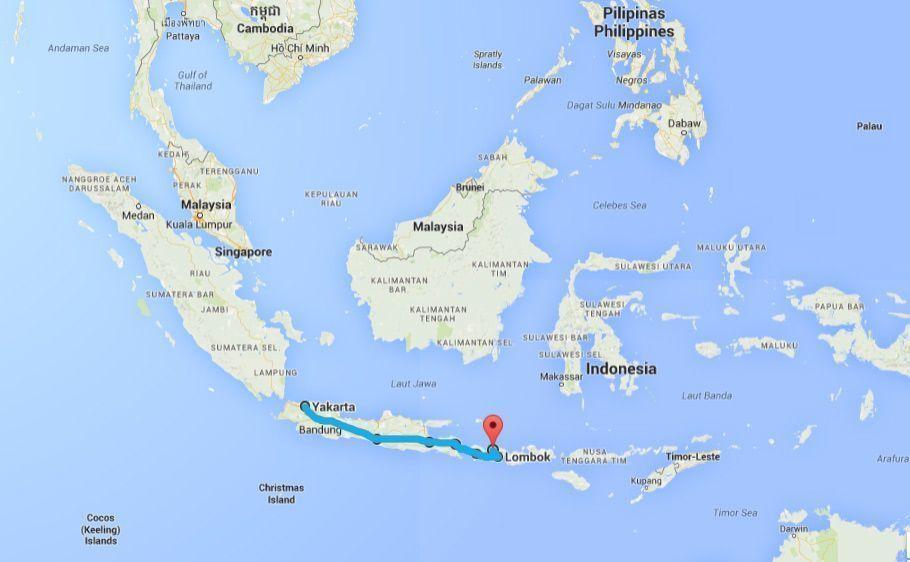 Indonesia, Asia, Mapa Ruta - 3000km-Viajes-Aventura-Alternativos-Grupo-Mochilero